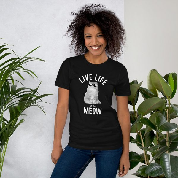 Live Life in the Meow T-Shirt 1