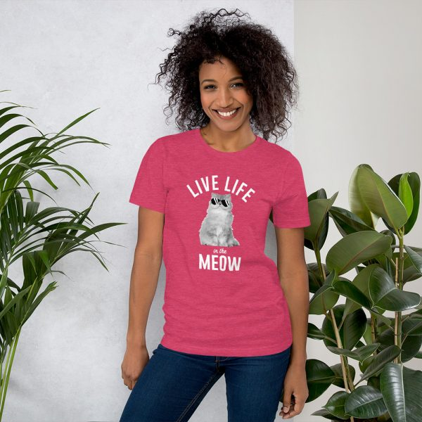Live Life in the Meow T-Shirt 6